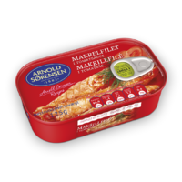 Mackerel fillets in tomato sauce