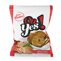 "Baked coins ""Ou Yes"" with bacon flavour"